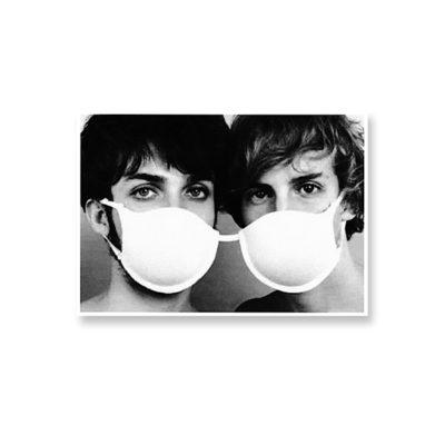 POSTKARTE Doppel-Maske Doppel D