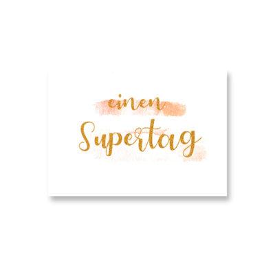 POSTKARTE Einen Supertag