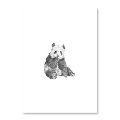 POSTKARTE Inkylines Panda