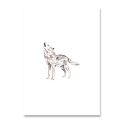 POSTKARTE Inkylines Wolf